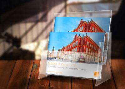 Folder reklamowy nieruchomości inwestycyjnej Gdańsk - Nieruchomości Orange