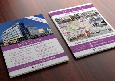 Folder reklamowy nieruchomości Alfa Plaza Gdynia - Octava Property