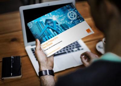 Folder reklamowy pakietu nieruchomości inwestycyjnych - Nieruchomości Orange
