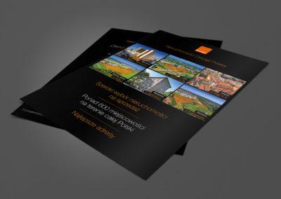 Folder reklamowy oferty nieruchomości inwestycyjnych - Nieruchomości Orange