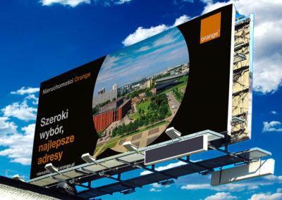 Kampania wizerunkowa outdoor Nieruchomości - billbaord - Nieruchomości Orange