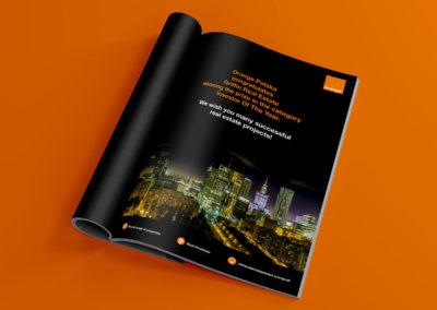 Wizerunkowa reklama prasowa - Nieruchomości Orange