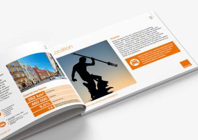 Folder reklamowy nieruchomości inwestycyjnej - Gdańsk, ul. Długa - Nieruchomości Orange