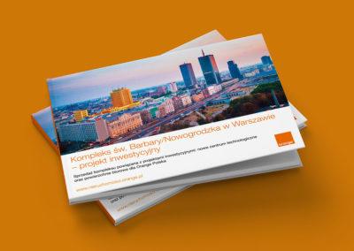 Folder reklamowy kompleksu nieruchomości Warszawa, ul. Św. Barbary / Nowogrodzka - Nieruchomości Orange