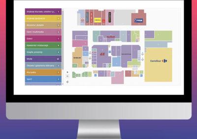 Interaktywne plany obiektów handlowych - Galeria Wołomin - CBRE
